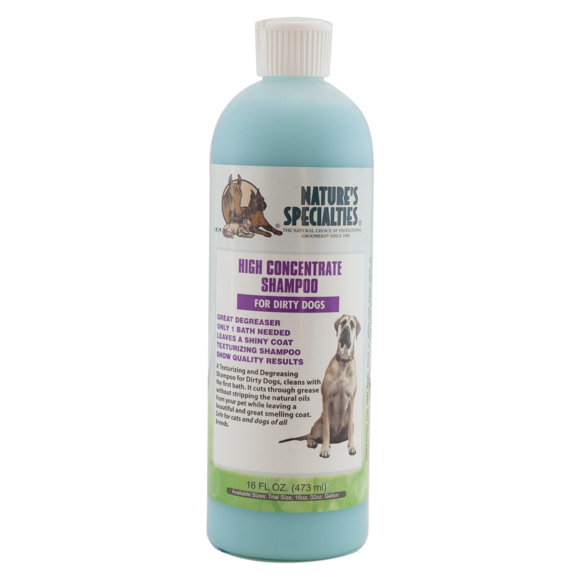Nature's Specialties High Concentrate Shampoo for Dirty Dogs and Cats, 16-oz bottle