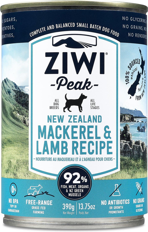 Ziwi Peak Dog Mackerel & Lamb Recipe Canned Dog Food, 13.75-oz