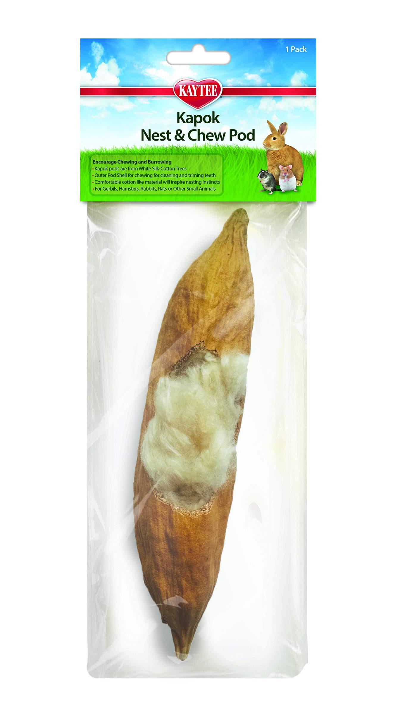 Kaytee Kapok Nest & Chew Pods for Small Animals, 1-pk
