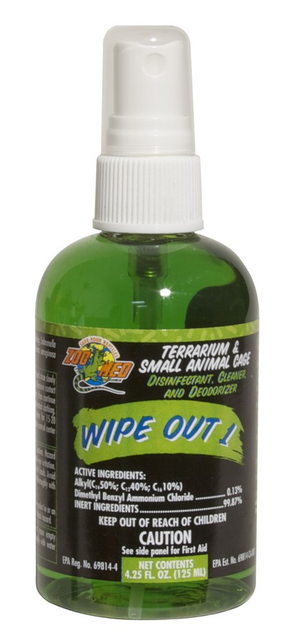 Zoo Med Wipe Out 1 Terrarium Disinfectant, 4.25-oz