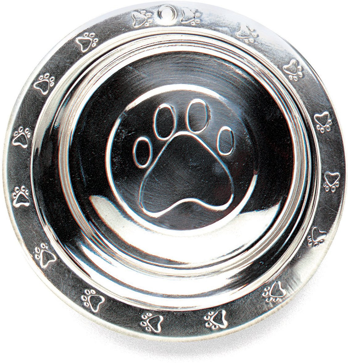 Ethical Pet Stainless Steel 3-D Embossed Dog Bowl, 3-qt
