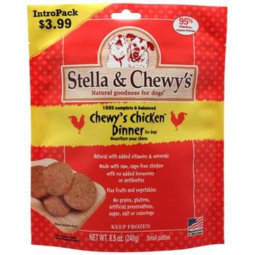 Stella & Chewy's Chewy's Chicken Dinner Patties Grain-Free Raw Frozen Dog Food, 8.5-oz