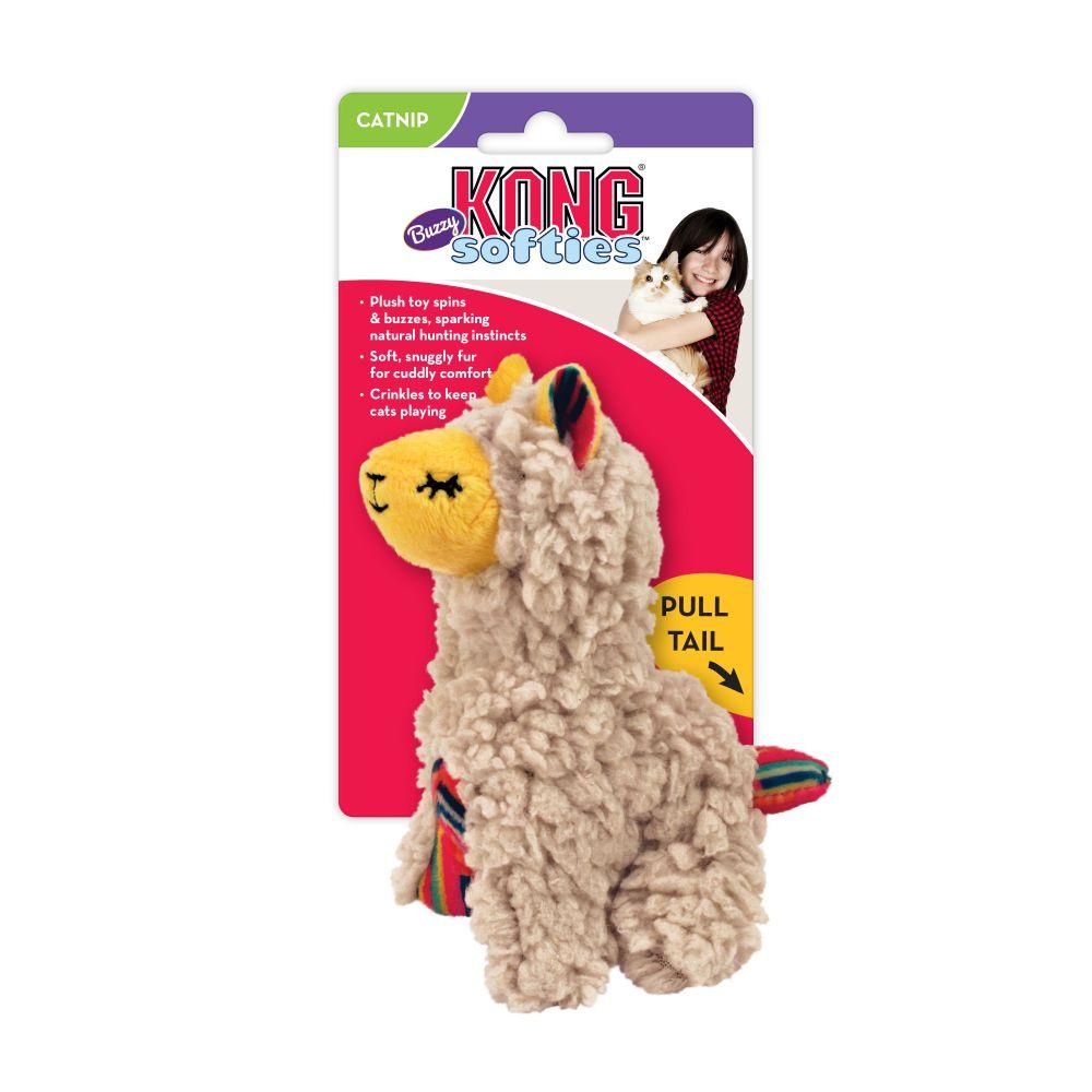 KONG Softies Buzzy Llama Cat Toy, Biege