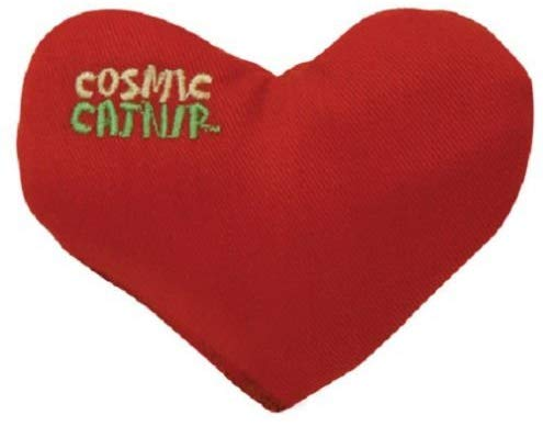 OurPets Cosmic Catnip Filled Heart Crush Cat Toy