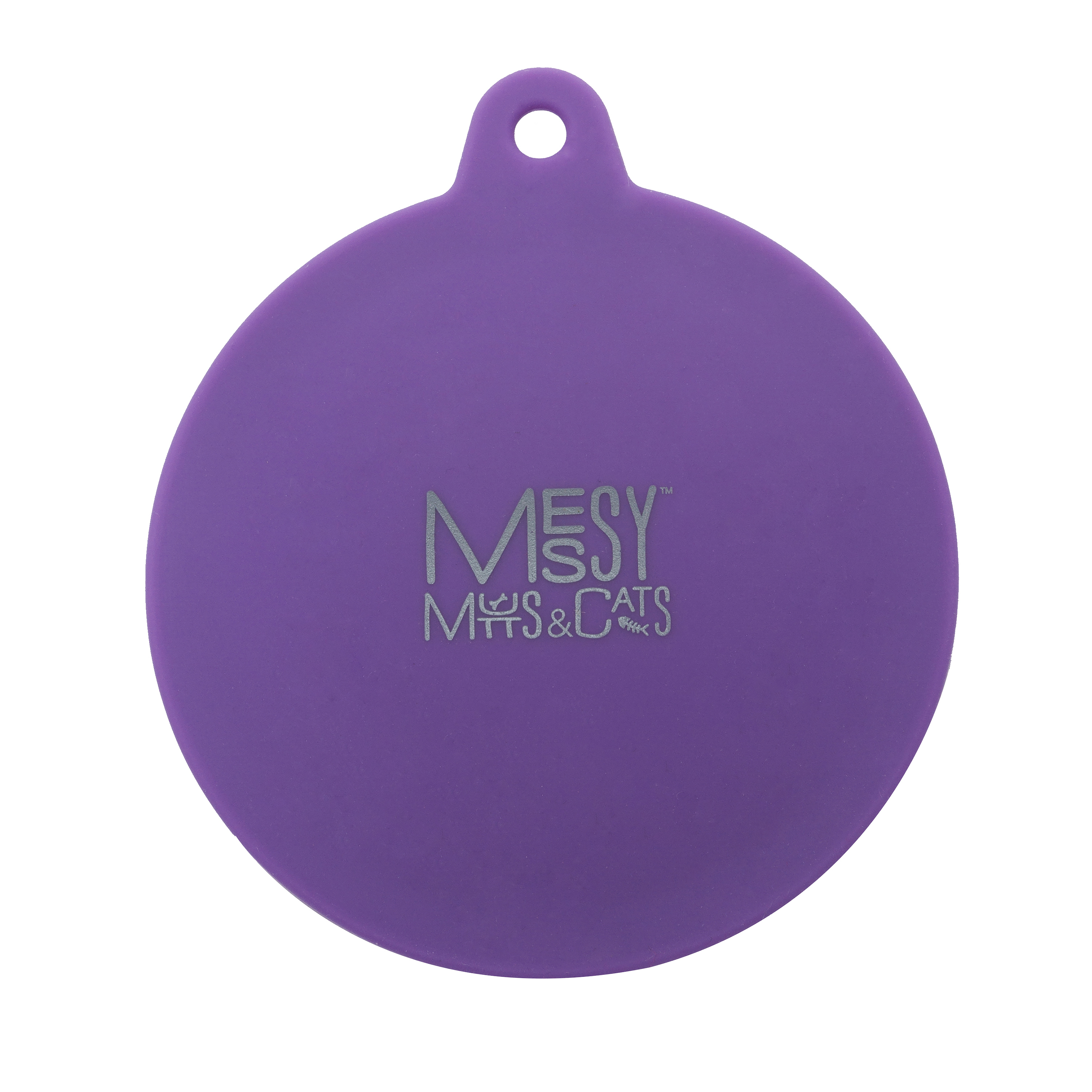 Messy Mutts Silicone Dog & Cat Can Cover, Purple