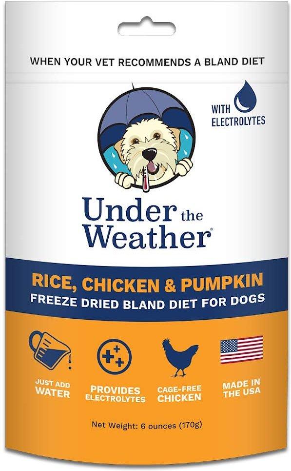 Under the Weather Rice, Chicken & Pumpkin Flavor Freeze-Dried Dog Food, 6-oz bag