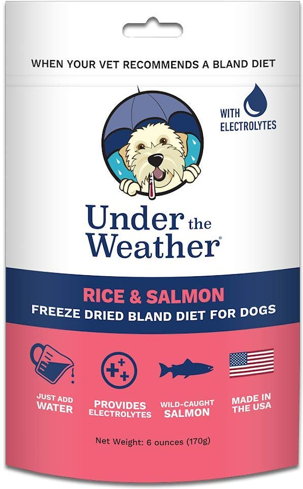 Under the Weather Rice & Salmon Flavor Freeze-Dried Dog Food, 6-oz bag