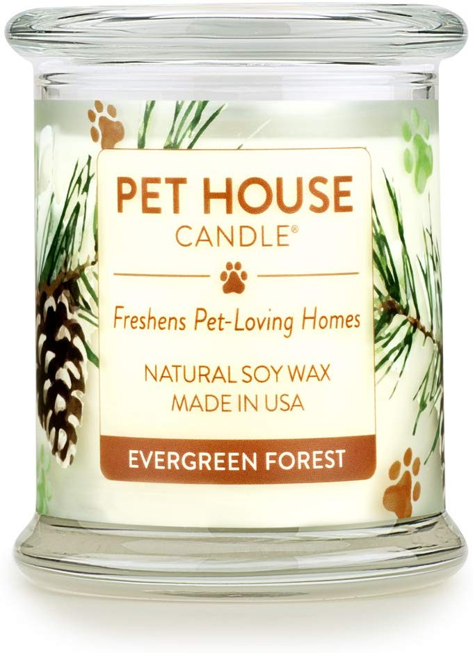 One Fur All Pet House Evergreen Forest Natural Soy Candle, 8.5-oz
