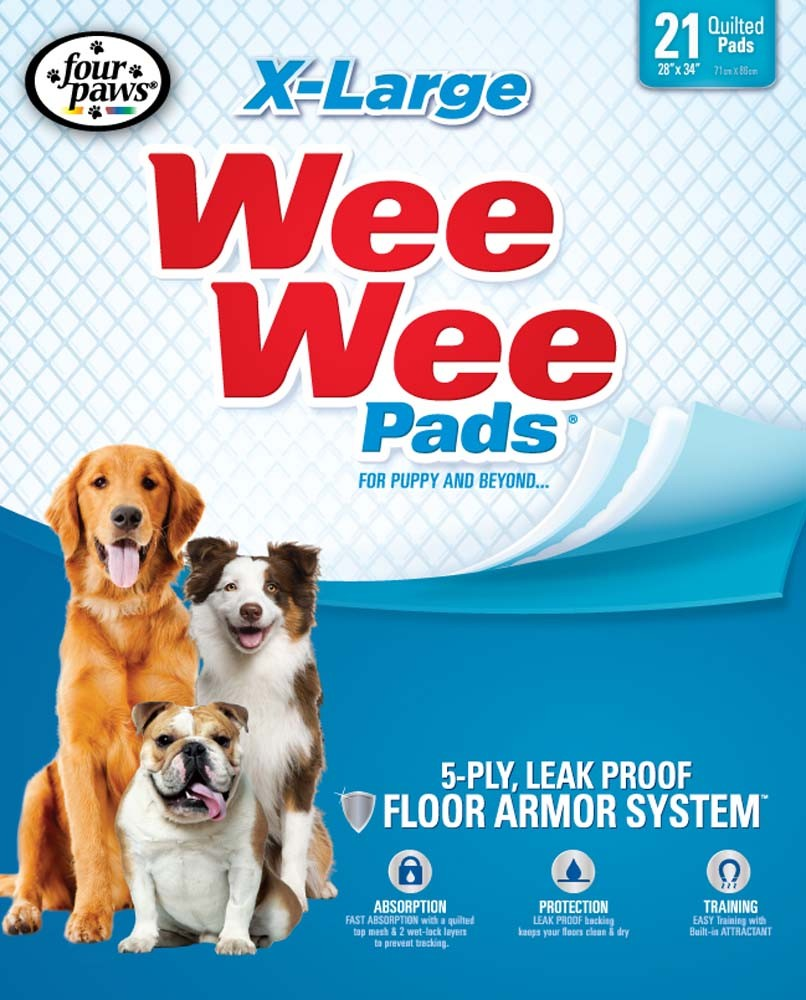 Wee-Wee Housebreaking Dog Pads, X-Large, 21-count