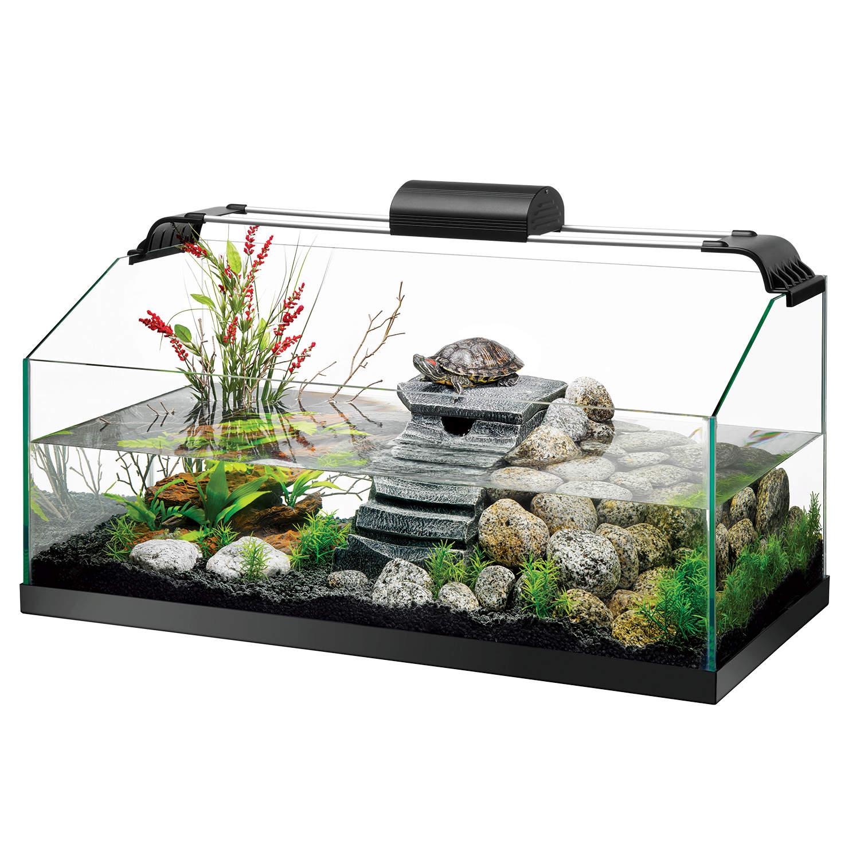 Zilla Premium Rimless Aquatic Turtle Habitat Kit, 20