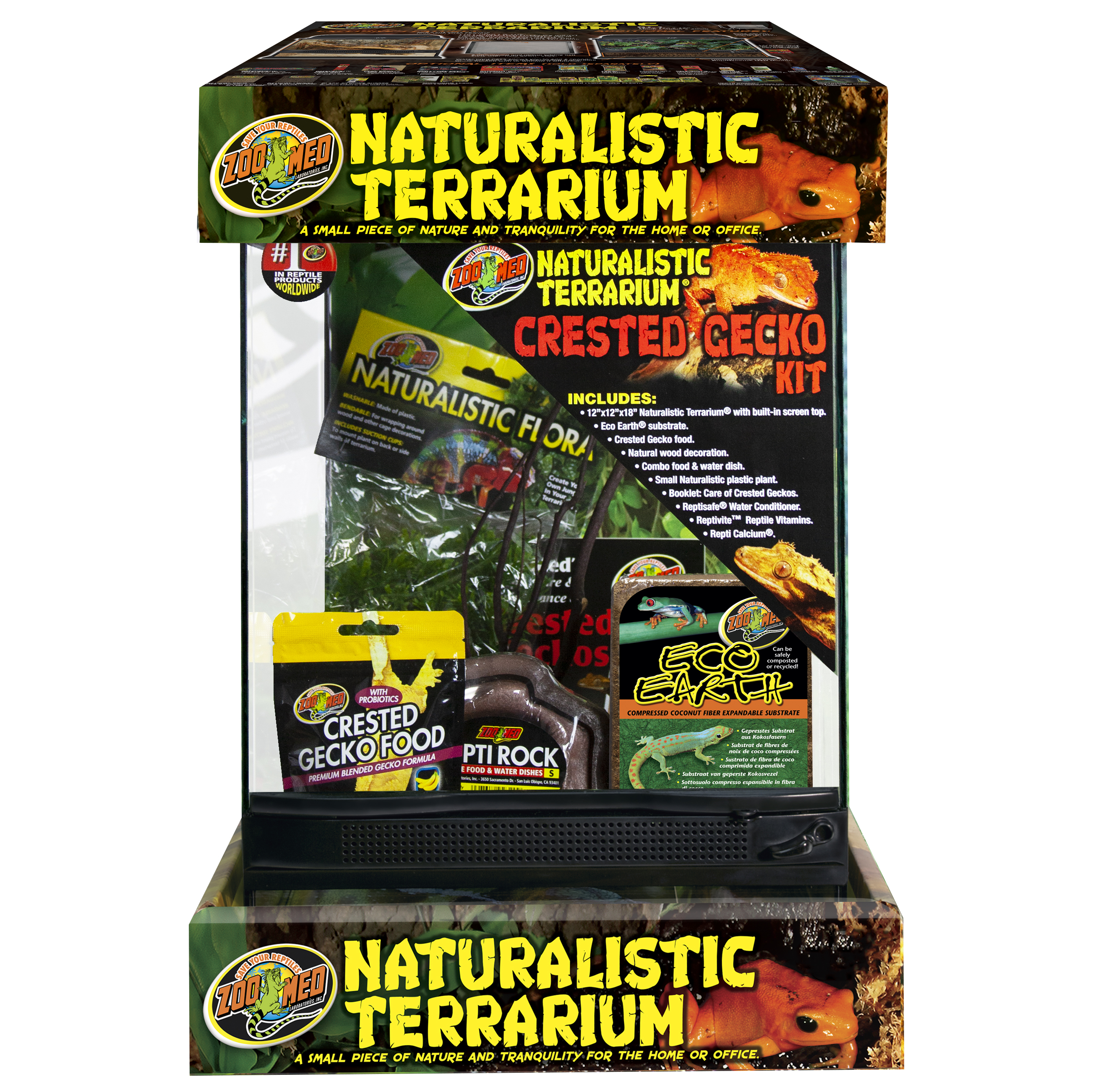 Zoo Med Natrualistic Terrarium Crested Gecko Kit