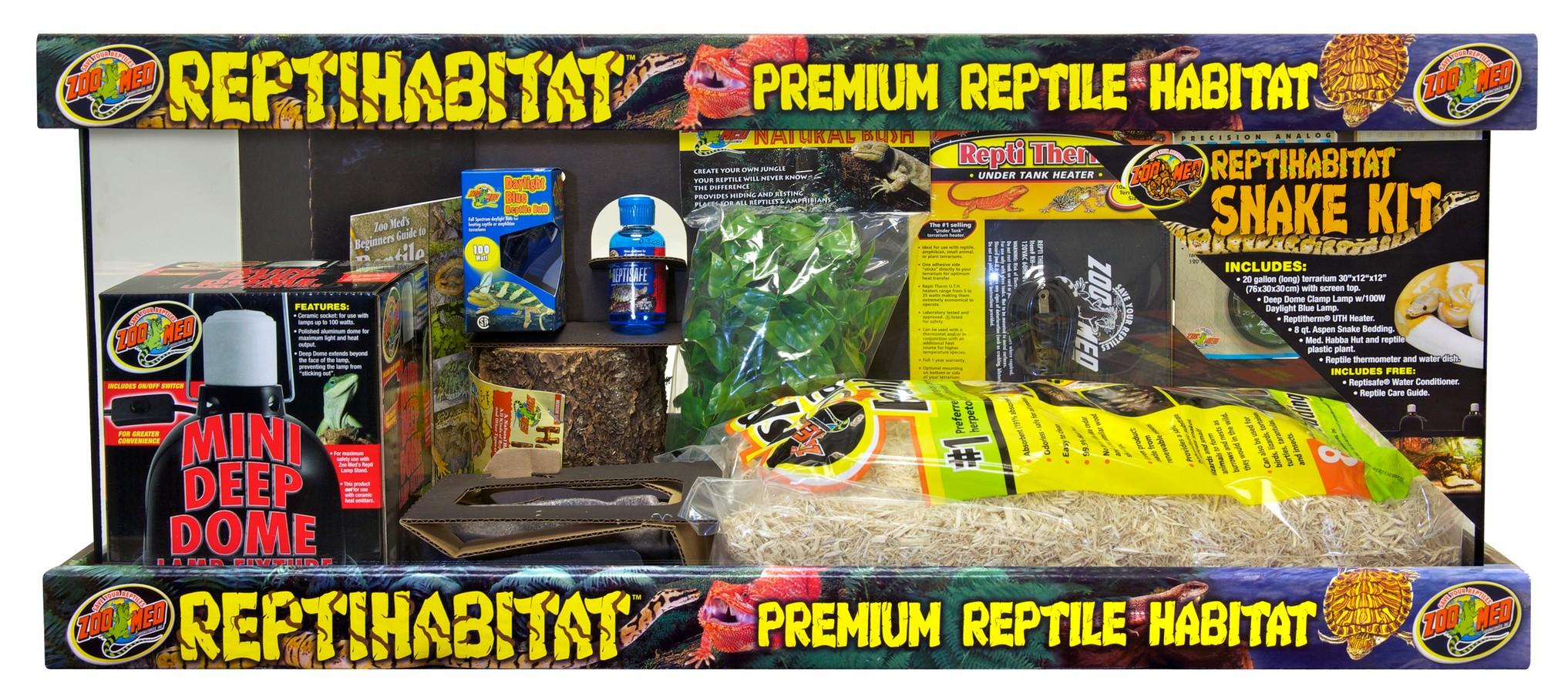 Zoo Med Reptihabitat Snake Kit Premium Reptile Habitat, 20-gallon