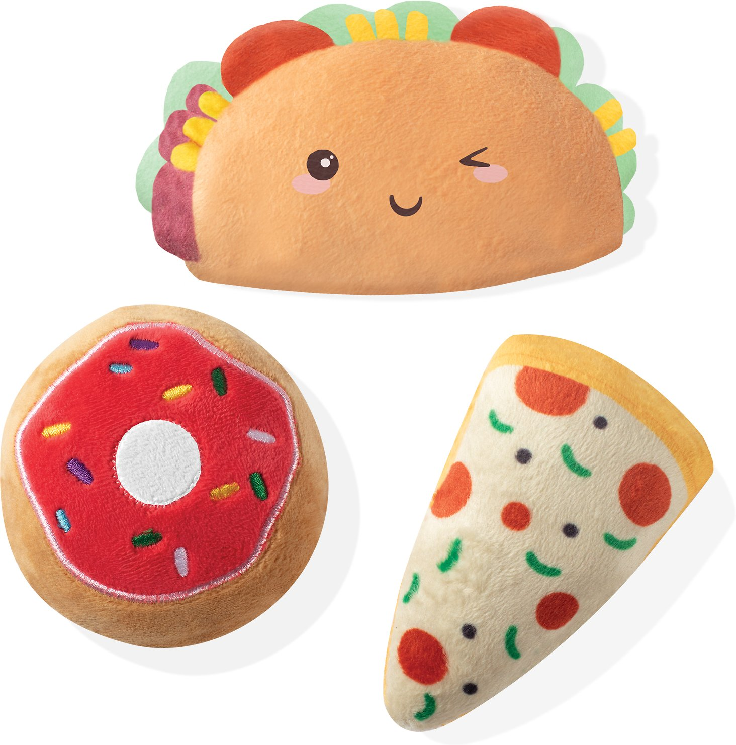 Pet Shop by Fringe Studio Feasting My Eyes on You Food Mini Dog Toys, 3-count