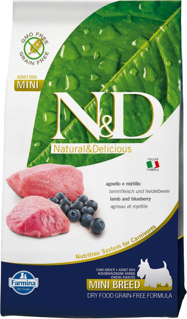 Farmina N&D Prime Lamb & Blueberry Mini Adult Dry Dog Food, 15.4-lb
