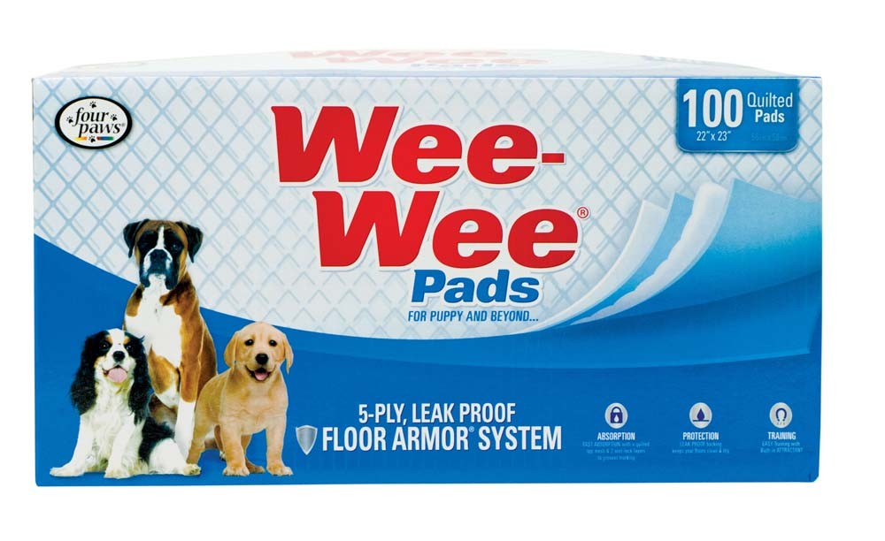 Wee-Wee Pet Training and Puppy Pads, 100-count