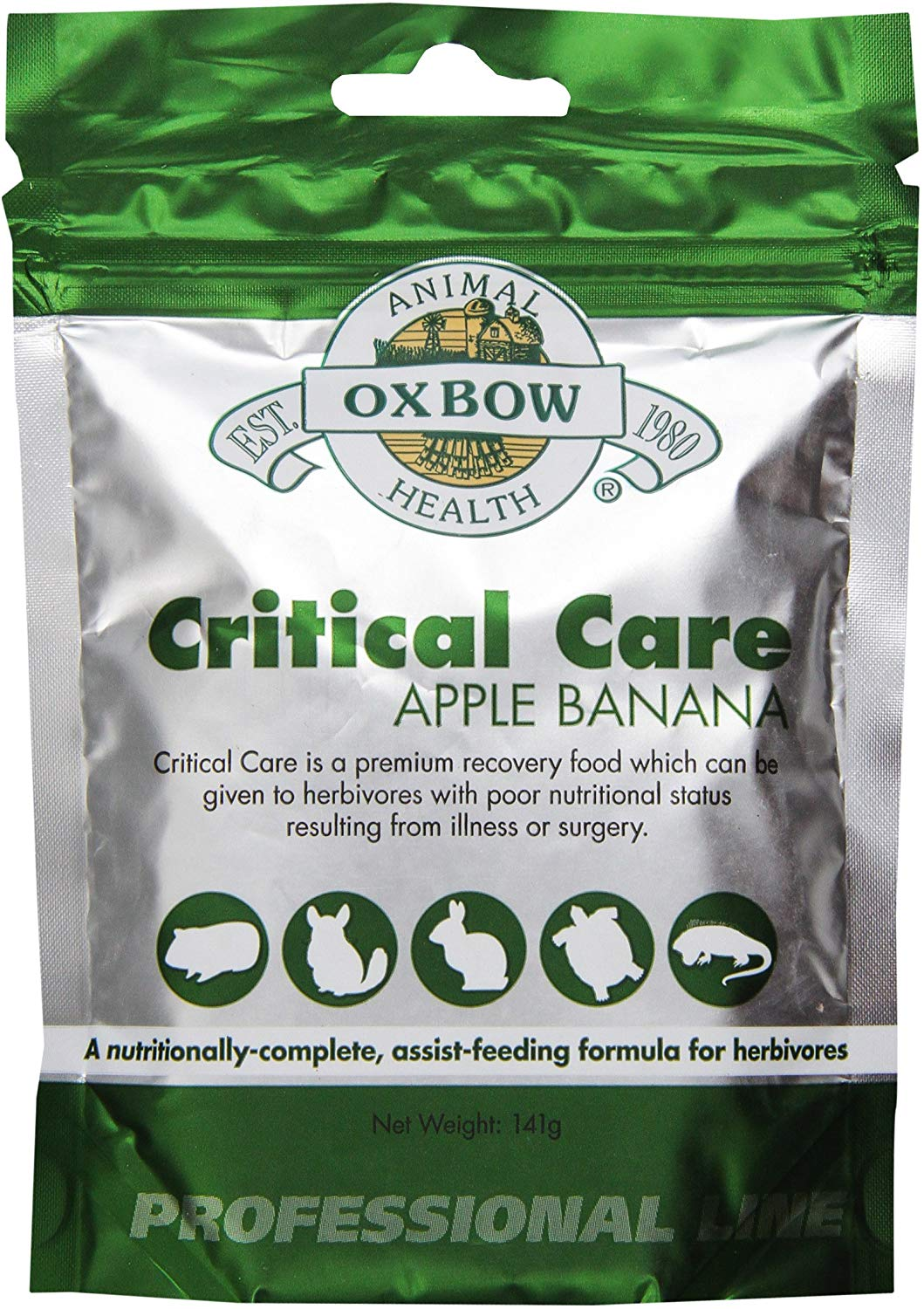 Oxbow Critical Care Apple/Banana Flavored Pet Supplement, 1-lb