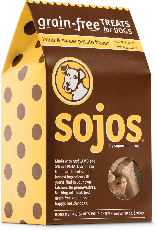 Sojos Grain-Free Lamb & Sweet Potato Flavor Dog Treats, 10-oz box (Weights: 10.08ounces) Image
