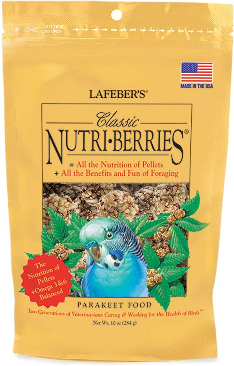Lafeber Classic Nutri-Berries Parakeet Bird Food, 10-oz bag