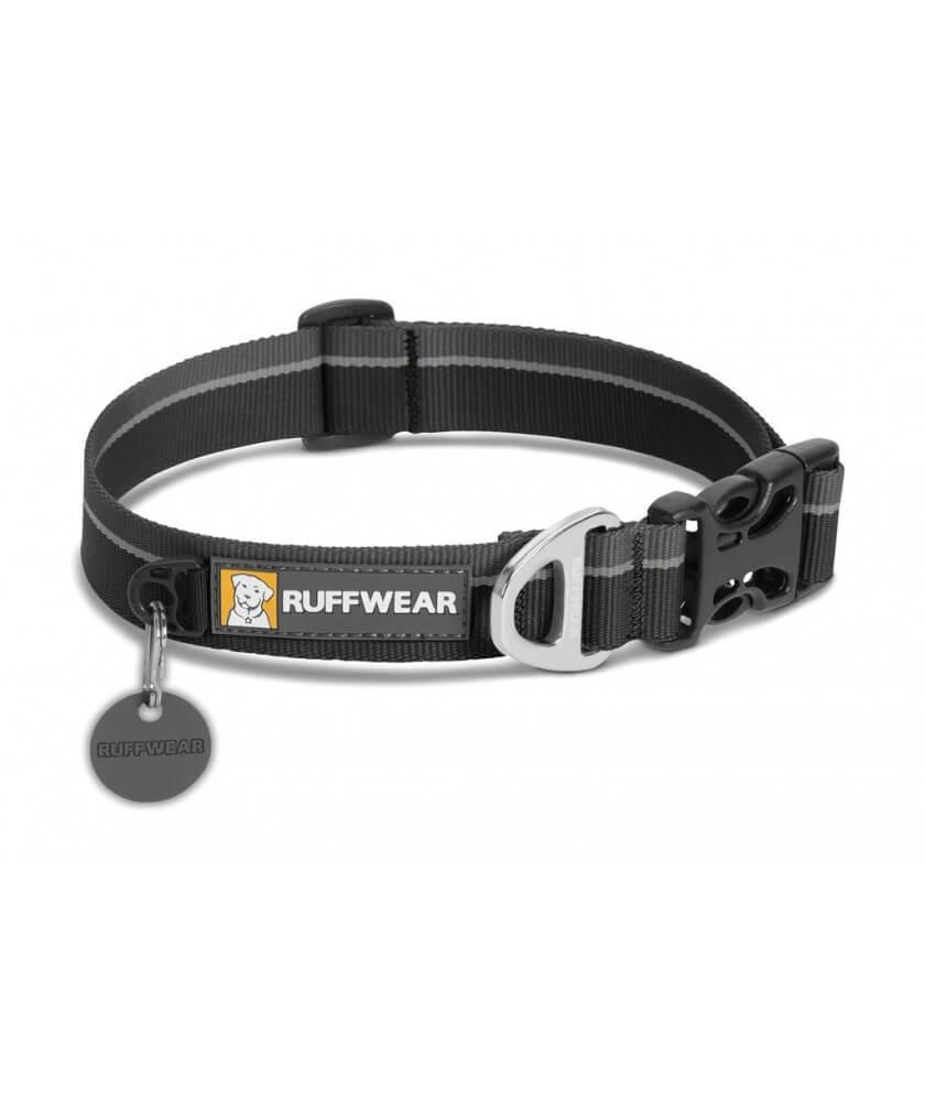 Ruffwear Hoopie Dog Collar, Obsidian Black, 14-20-in