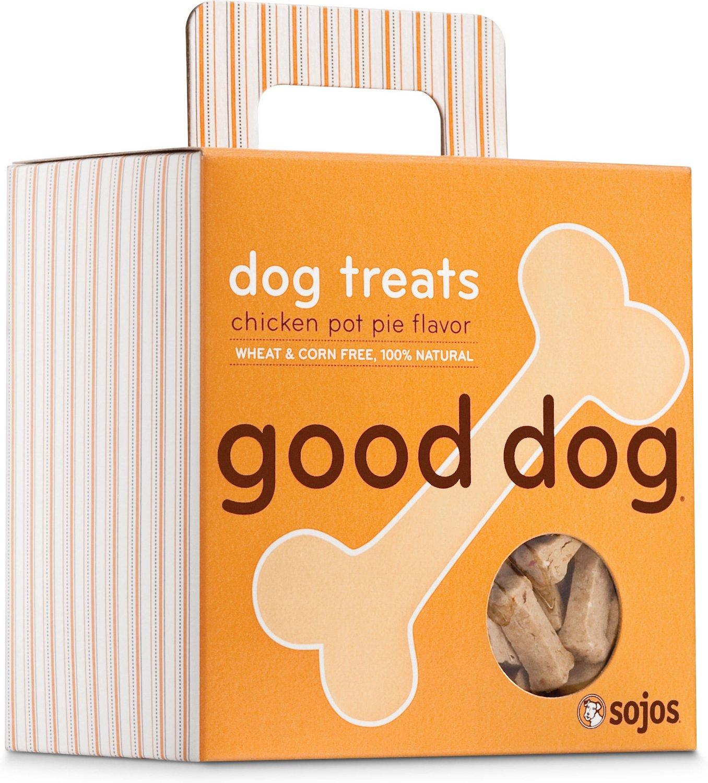 Sojos Good Dog Chicken Pot Pie Flavor Dog Treats, 8-oz box