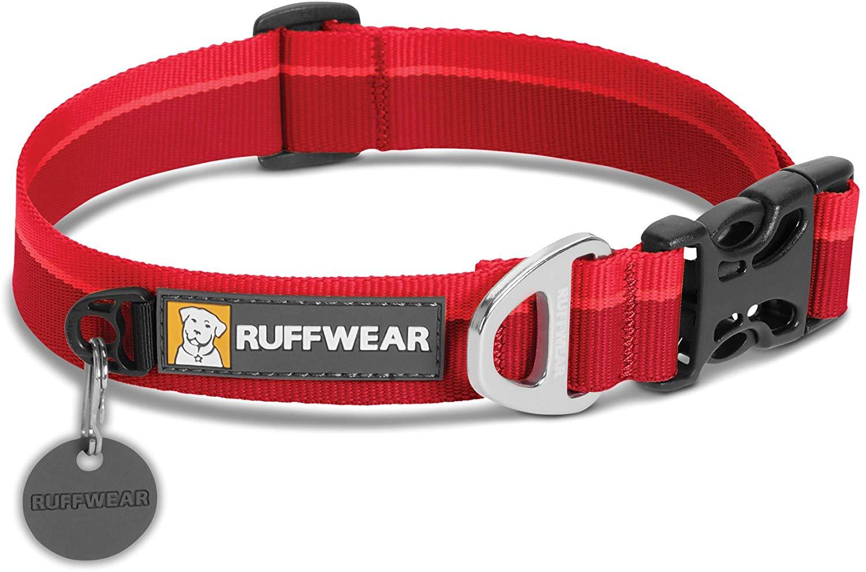 Ruffwear Hoopie Dog Collar, Red Currant, 11-14-in