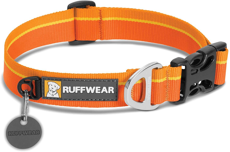 Ruffwear Hoopie Dog Collar, Orange Sunset, 20-26-in