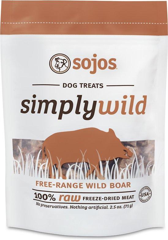 Sojos Simply Wild Boar Freeze-Dried Dog Treats, 2.5-oz bag