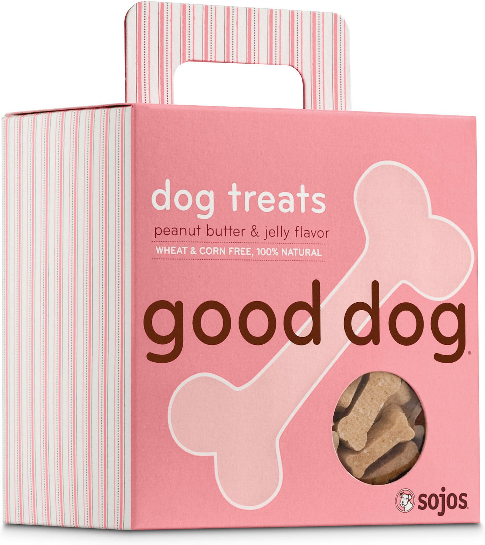 Sojos Good Dog Peanut Butter & Jelly Flavor Dog Treats, 8-oz box
