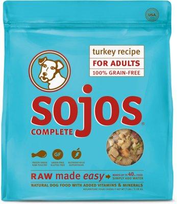 Sojos Complete Turkey Recipe Adult Grain-Free Freeze-Dried Raw Dog Food, 7-lb bag
