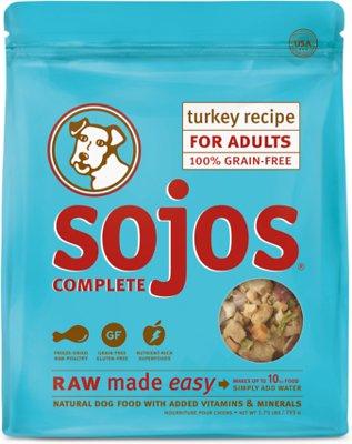 Sojos Complete Turkey Recipe Adult Grain-Free Freeze-Dried Raw Dog Food, 1.75-lb bag