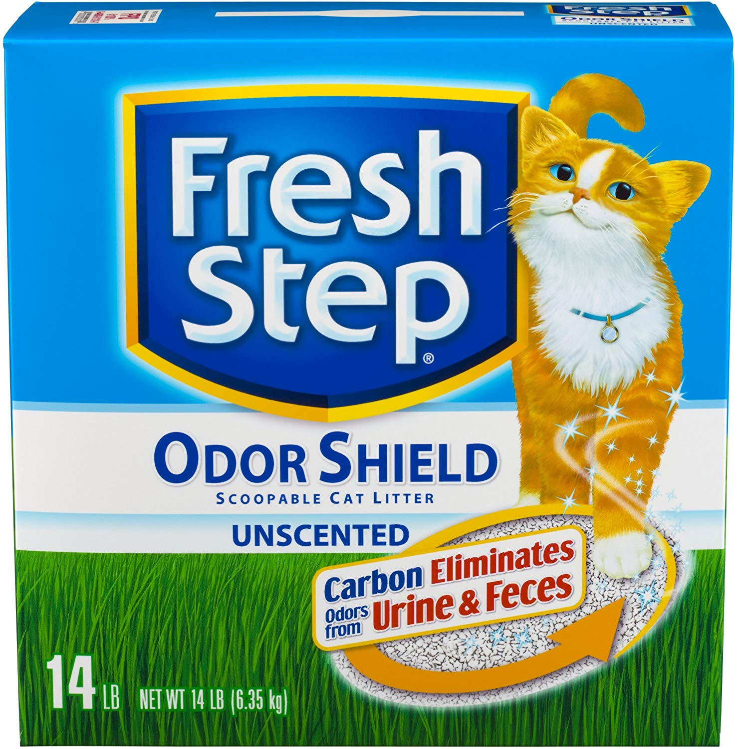 Fresh Step Odor Shield Unscented Scoopable Cat Litter, 14-lb (Size: 14-lb) Image