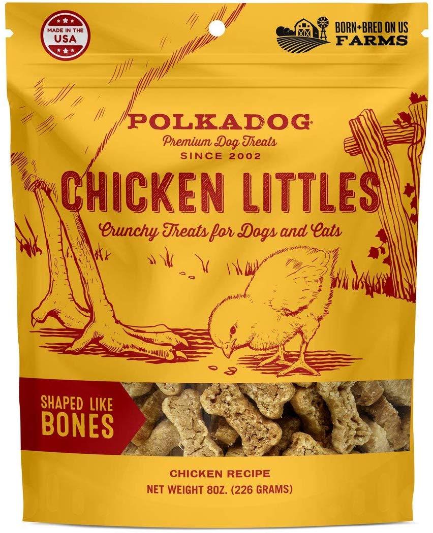Polkadog Bakery Chicken Little Bone Shaped Dog Treats, 8-oz