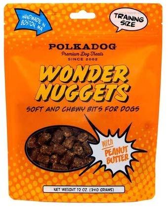 Polkadog Bakery Wonder Nuggets with Peanut Butter Dog Treats, 12-oz