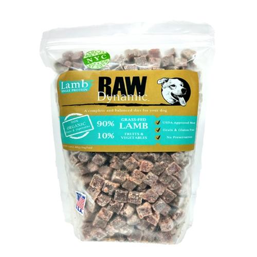 Raw Dynamic Lamb Formula Raw Dog Food, 3-lb