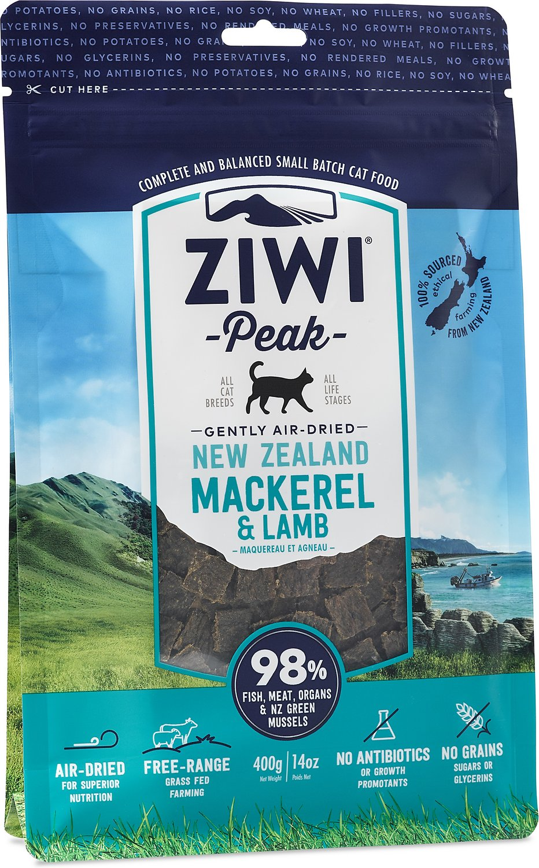 Ziwi Peak Cat Mackerel & Lamb Recipe Air-Dried Cat Food, 14-oz bag