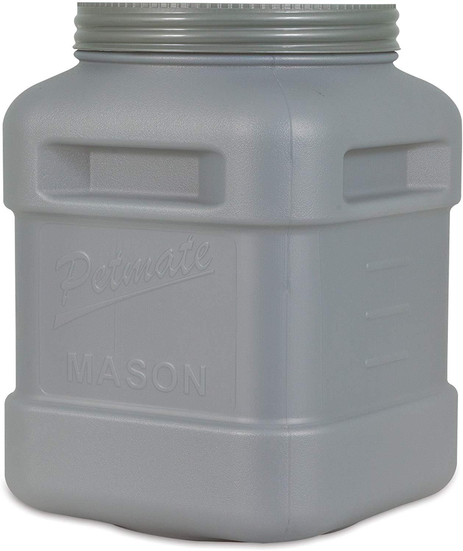 Petmate Mason Jar Pet Food Storage Container, up to 40-lb