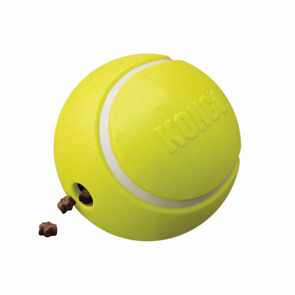 KONG Rewards Tennis Ball Dog Toy, Yellow, Large