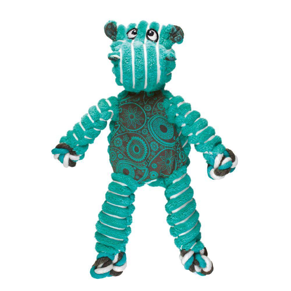 KONG Floppy Knots Hippo Dog Toy, Small/Medium