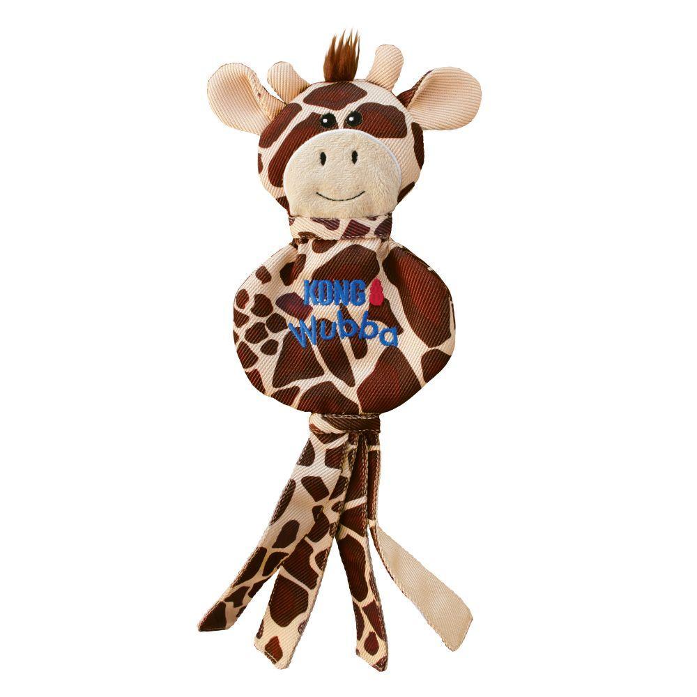 KONG Wubba No Stuff Giraffe Dog Toy, Brown, Large