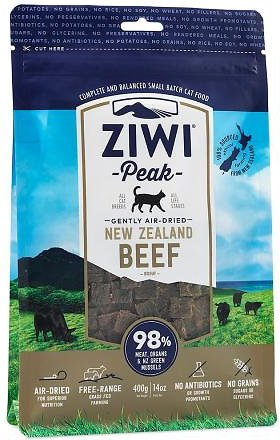 Ziwi Peak Cat Beef Recipe Air-Dried Cat Food, 14-oz bag