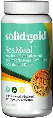 Solid Gold Supplements SeaMeal Skin & Coat, Digestive & Immune Health Powder Grain-Free Dog & Cat Supplement, 8-oz jar