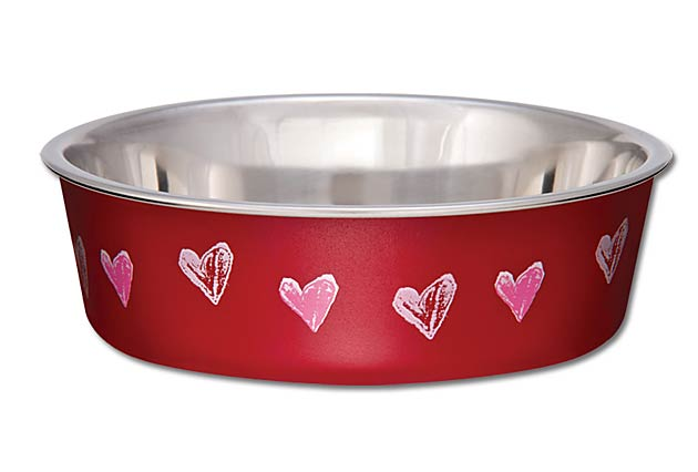 Loving Pets Bella Bowls Hearts Valentine Dog Bowl Image