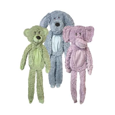 Multipet AromaDog Fleece Flattie Dog Toy, Assorted Colors, 19-in