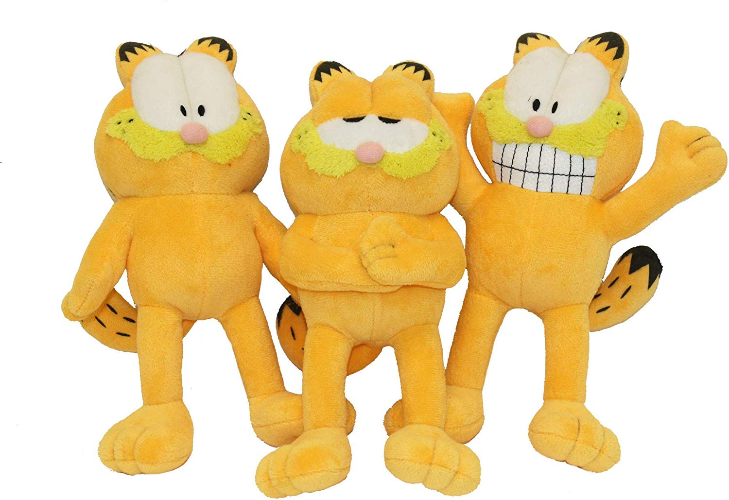 Multipet Garfield Dog Toy, 3-pk