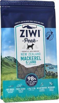 Ziwi Peak Dog Mackerel & Lamb Recipe Air-Dried Dog Food, 5.5-lb bag