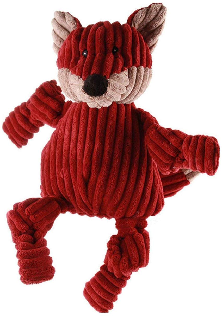 HuggleHounds Knottie Fox Dog Toy, Small