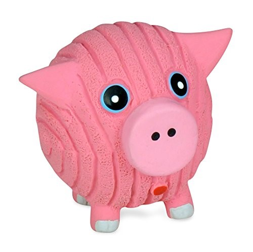 HuggleHounds Ruff-Tex Hamlet the Pig Ball Dog Toy Image