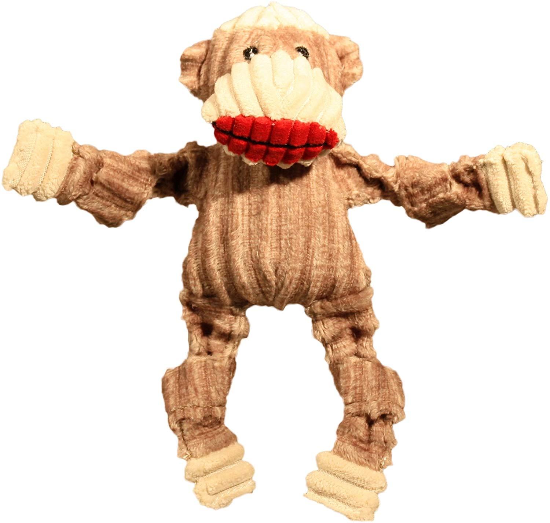 HuggleHounds Knottie Sock Monkey Dog Toy, Large