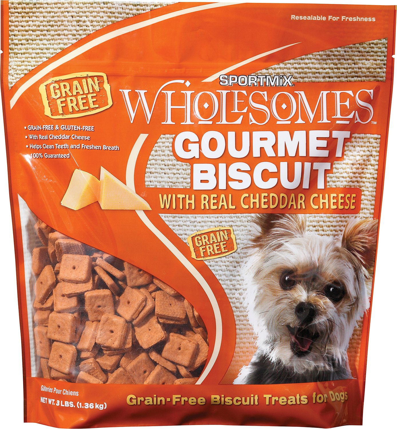 SPORTMiX Wholesomes Grain-Free Premium Gourmet Biscuit with Real Cheddar Cheese Dog Treats Image