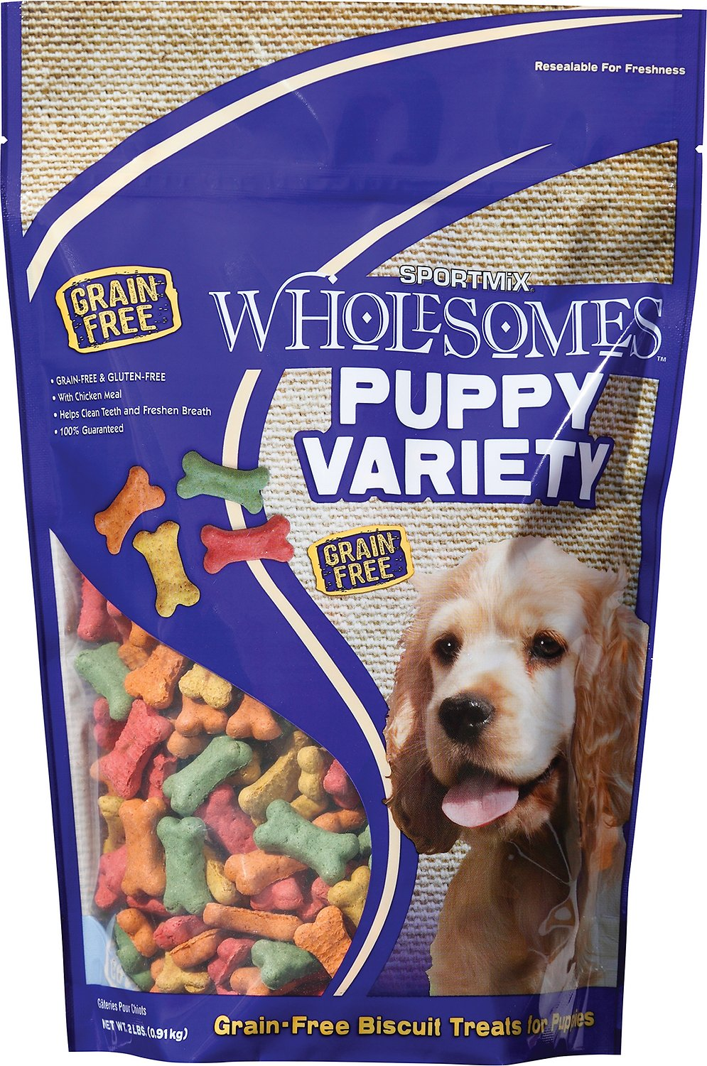 SPORTMiX Wholesomes Grain-Free Puppy Variety Biscuit Dog Treats, 2-lb bag